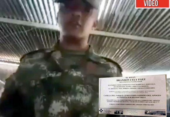 Brandon, el soldado que se suicidó después de apoyar el paro