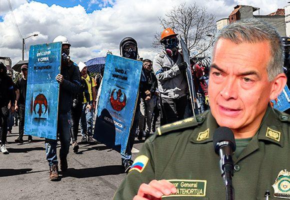 Policía intimida al escuadrón estudiantil anti-esmad en la U. Nacional
