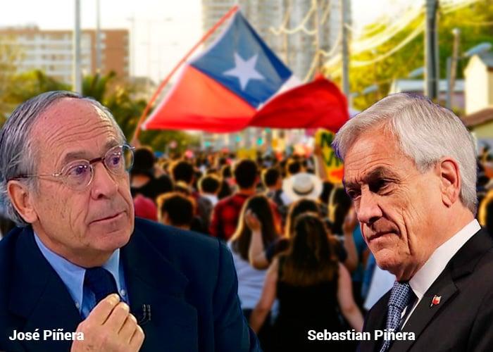 Sebastián y José Piñera: dos hermanos enfrentados en medio de la revuelta chilena