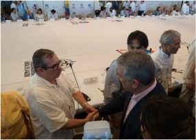 Duque le hizo viaje exprés a la reunión del Diálogo Social en Cartagena