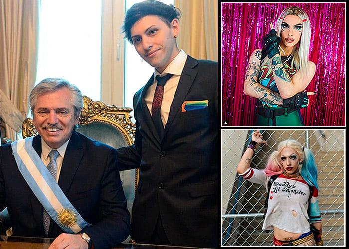 El hijo drag queen del nuevo presidente de Argentina