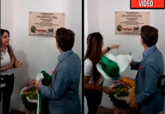 Como un trapo sucio trató el gobernador Luis Pérez la bandera de Antioquia