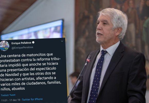Enrique Peñalosa tilda a los manifestantes de