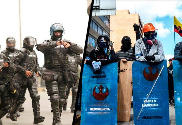 La Primera Línea, el escuadrón anti-Esmad que cuestiona la violencia legítima del Estado