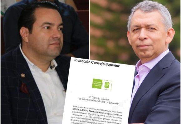 Al rector de la UIS se le aguó el homenaje al cuestionado gobernador de Santander