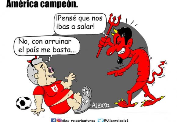 Caricatura: ¡Por suerte Duque no saló al América!