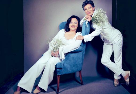 La lluvia de felicitaciones en redes a Claudia López y Angélica Lozano por su matrimonio