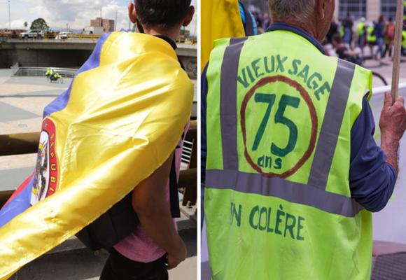 Comparar las protestas de Colombia y Francia es como equiparar un Renault 4 con un Ferrari