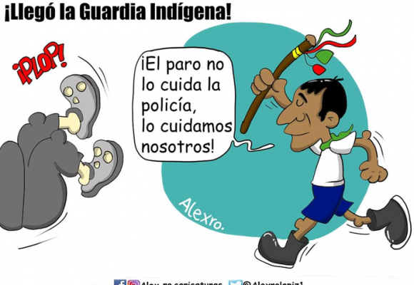 Caricatura: Llegó la Guardia Indígena