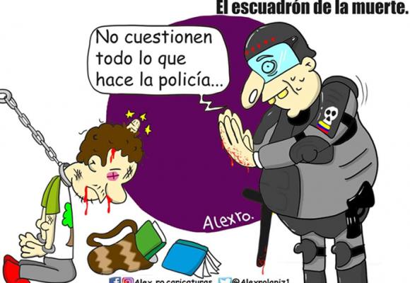 Caricatura: El escuadrón de la muerte