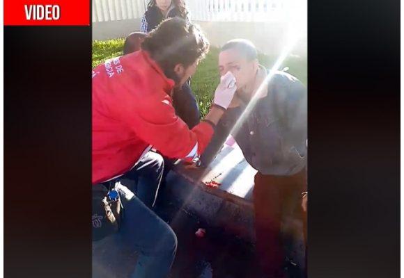 Ya el Esmad reventó al primer estudiante en las protestas del 4 de diciembre