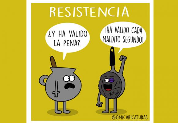 Caricatura: ¡Resistencia!