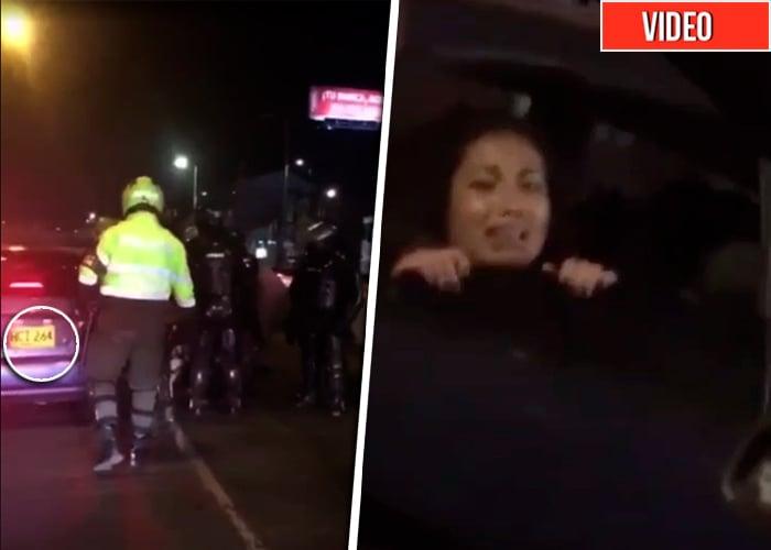 ¿A dónde pretendía llevar la policía a dos jóvenes en carros particulares?