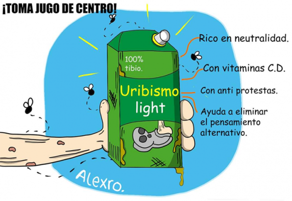 Caricatura: Uribismo light