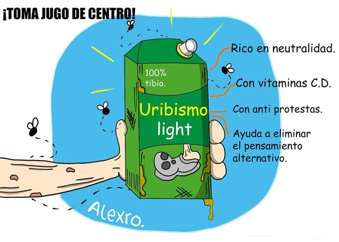 Caricatura: Uribismo light