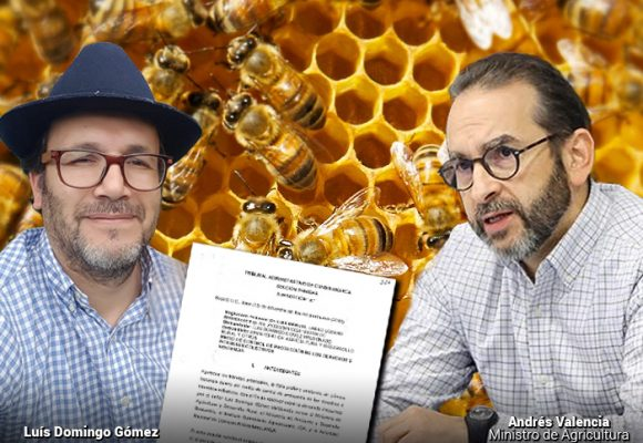 Los defensores de las abejas acorralaron al Minagricultura, Andrés Valencia