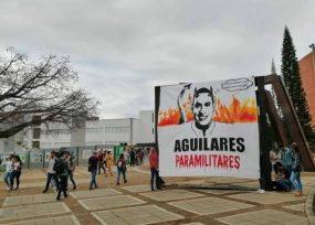 Agresiva pancarta contra los Aguilar en la UIS