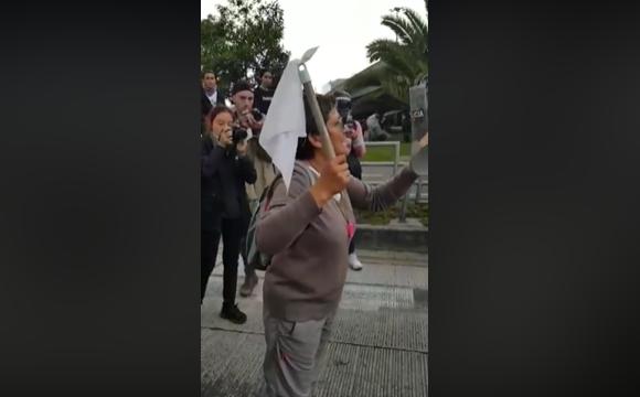 La anciana que se la ganó a un escuadrón del ESMAD. Video