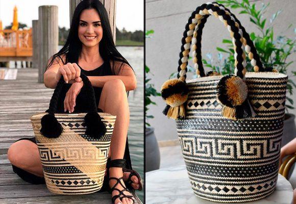 La actriz Scarlet Ortiz encantada con la artesania wayuu