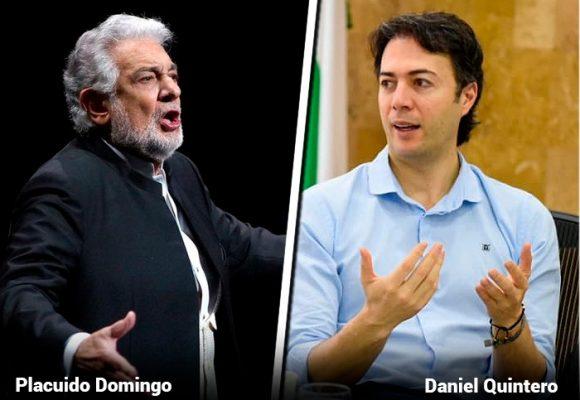 El alcalde de Medellín no apoyará la presentación de Plácido Domingo