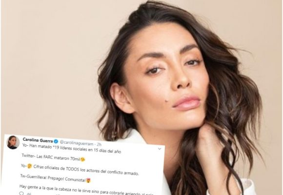 Carolina Guerra se cansó del maltrato uribista en Twitter