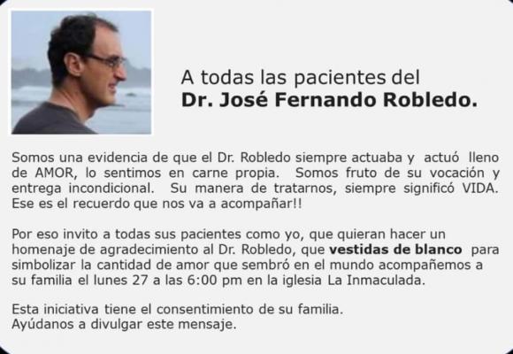 La despedida del doctor José Fernando Robledo