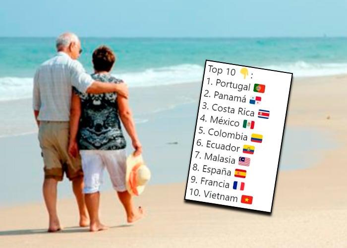 Colombia en el top 5 de los mejores países para jubilarse