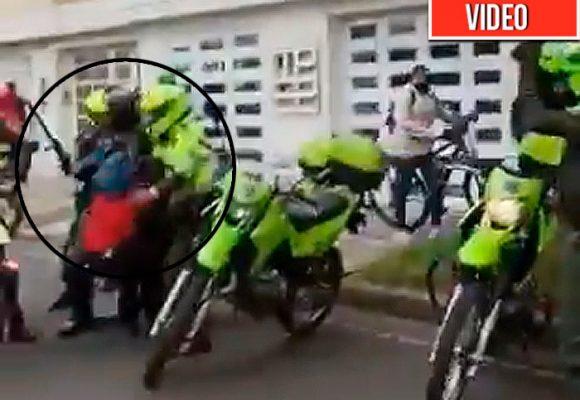 Bolillo, pata y puño: el festín que se dio la policía al Sur de Bogotá