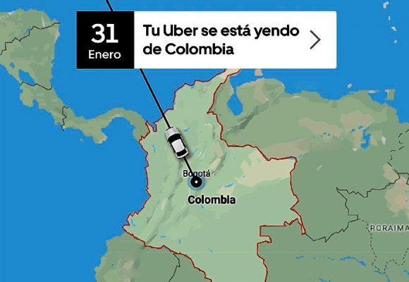 Uber le dice adiós a Colombia: 88.000 conductores a la calle