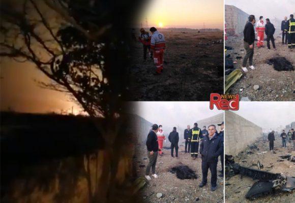 Video: el momento exacto en el que el Boeing se estrella en Irán y mata a 176 personas
