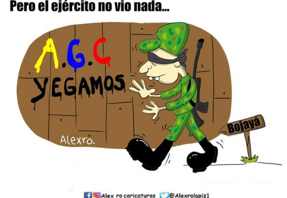 Caricatura: Y el Ejército no vio nada...