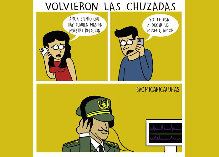 Caricatura: Chuzadas 2.0
