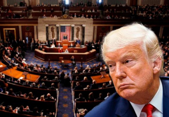 Tatequieto del Congreso de EEUU a Trump