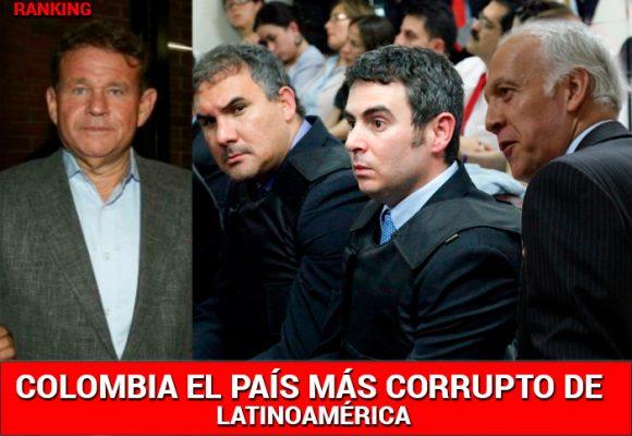 Colombia, el país más corrupto de América Latina
