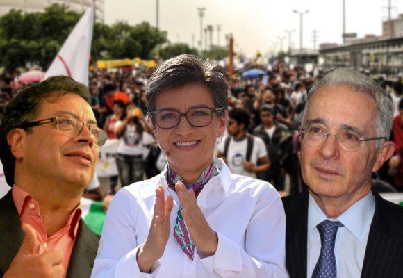 Petristas y uribistas crucifican a Claudia López en redes