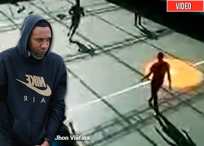 VIDEO: Jhon Viafara jugando fútbol en La Picota