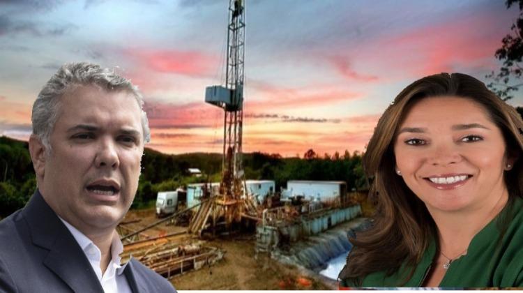 Duque, la ministra y el ´fracking´: pilotos al servicio de petroleras