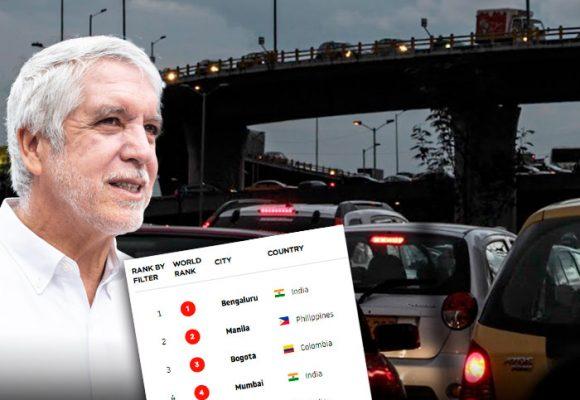 La Bogotá de Peñalosa quedó entre las 3 ciudades más congestionadas del mundo