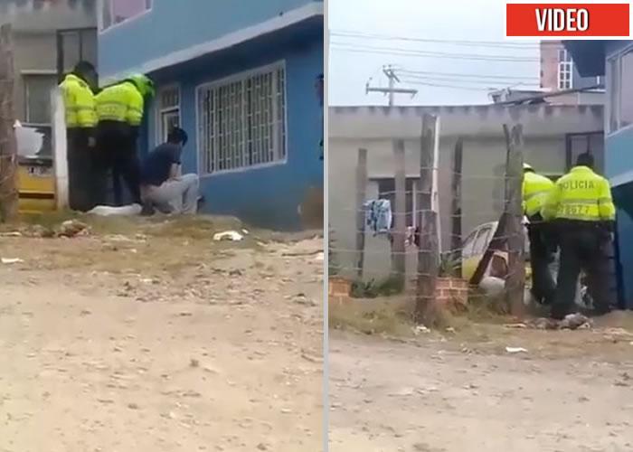 A pata policías mataron a un perro en Bogotá