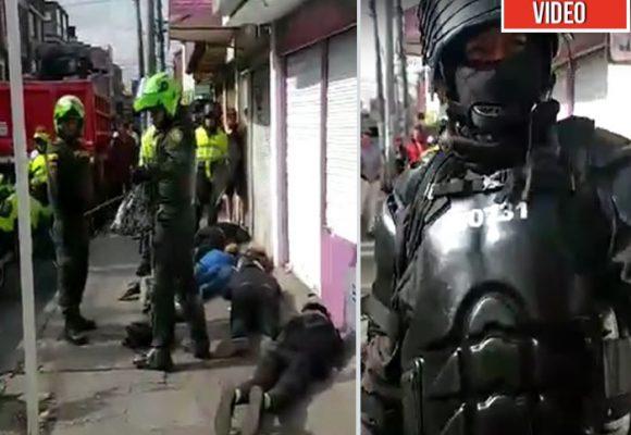 Los desmanes del Esmad en Suba. Video