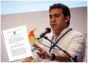 Golpe judicial al registrador Alexander Vega