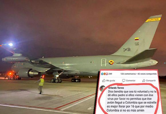 """""""Dios haz que se estrelle ese avión"""" el miedo que despiertan los colombianos rescatados de China"""