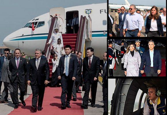Duque y la flota presidencial