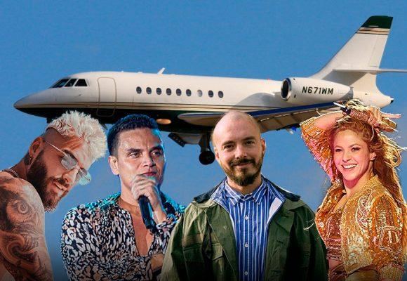 Shakira, Maluma, Silvestre, J Balvin y sus jets privados