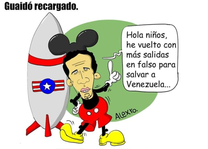 Caricatura: Guaidó recargado