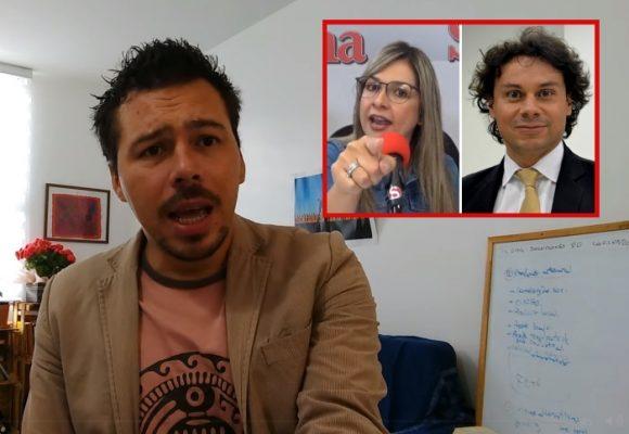 Video: Vicky Dávila y Hassan Nassar, como perros y gatos