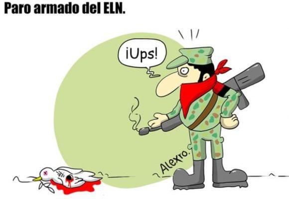 Caricatura: Paro armado del ELN