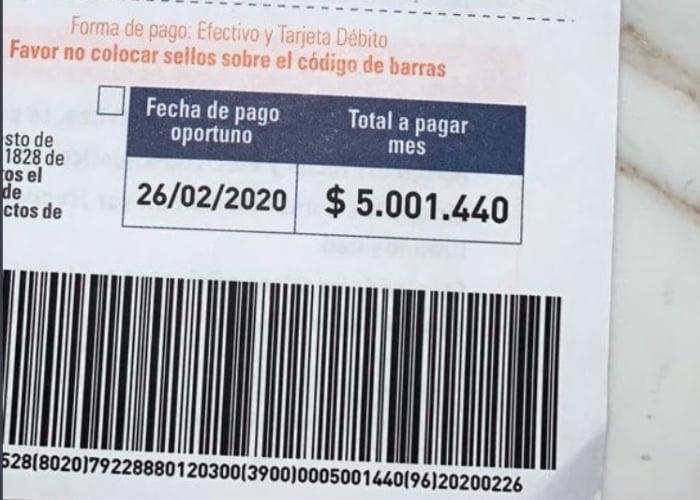 Factura de $5 millones: el último descaro de Electricaribe