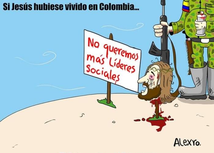 Caricatura: Si Jesús hubiese vivido en Colombia...