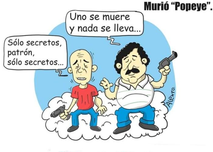 Caricatura: Murió Popeye